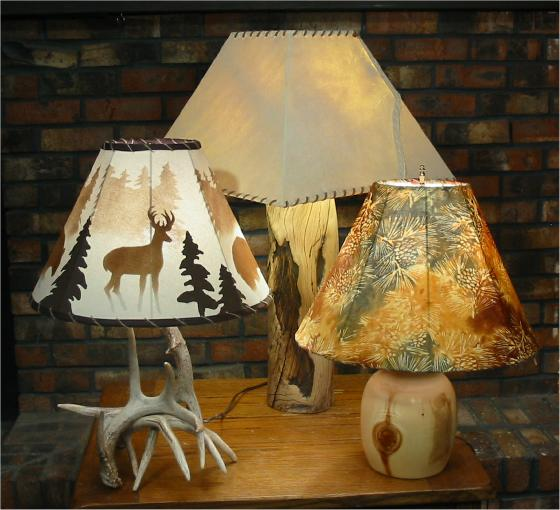 Handcrafted Lampshades Rustic Antler Lamps Accessories